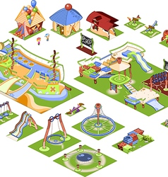 Playground - isometric vector image