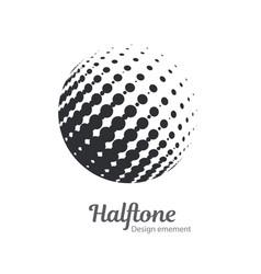 pop art halftone logo circles set vector image
