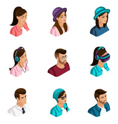 quality isometry 3d avatars for use vector image