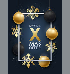 realistic christmas design with inscription vector image