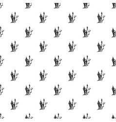 scary castle pattern seamless vector image