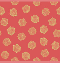 Seamless colorful hand-drawn icosahedron pattern vector