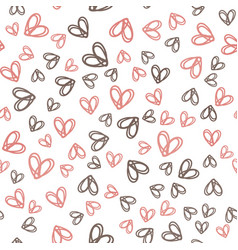 seamless pattern with colorful hearts for vector image