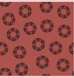 seamless tile on light-brown background vintage vector image