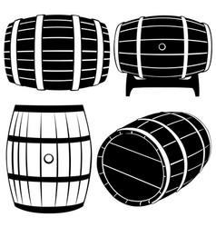 Set of different barrels vector