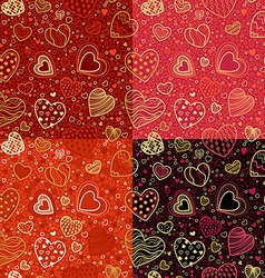 Set of seamless Valentines patterns vector