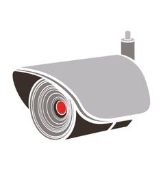 Silhouette infrared surveillance camera icon vector
