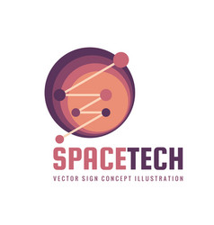 space tech - logo template concept vector image