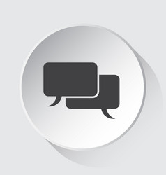 speech bubbles simple gray icon on white button vector image