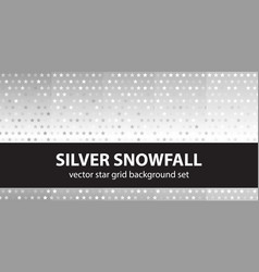 star pattern set silver snowfall seamless vector image