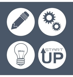 Start up icons design vector