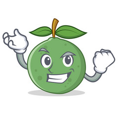 Successful guava character cartoon style vector