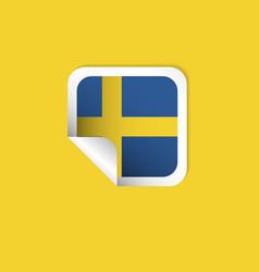 Sweden label flags template design vector