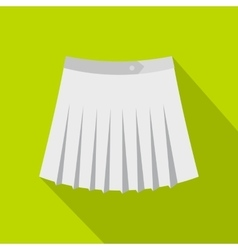 Tennis female skirt icon flat style vector image