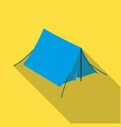 Tourist tenttent single icon in flat style vector