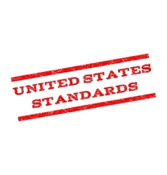 United States Standards Watermark Stamp vector image