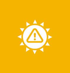 Uv radiation warning icon vector