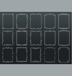 vintage ornamental rectangular frames on vector image