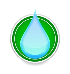 water drop blue color sign on the white vector image