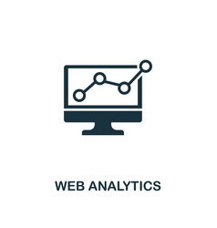 web analytics icon premium style design from vector image
