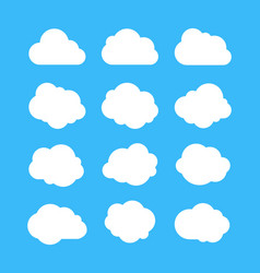 White simple clouds thinking bubbles cloud vector