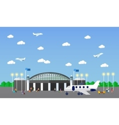 Airport terminal concept vector image vector image