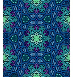 Bold pattern with Indian motifs vector image