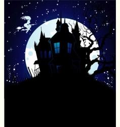 castle blue vector image