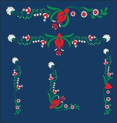 Floral graphic design elements vector image
