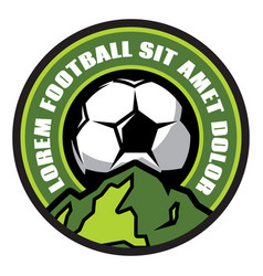 logo template with soccer ball vector image