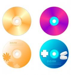 realistic illustration set dvd disk vector image