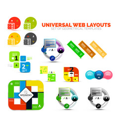 Set of paper graphics - infographic or web box vector