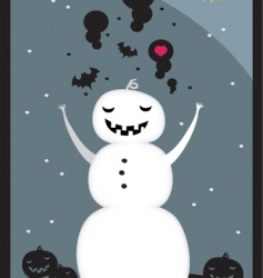 snow hell vector image