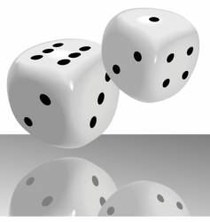 big fat pair of dice vector image