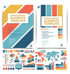 brochure template design cover layout and vector image