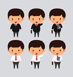 Elegant young business man vector image vector image