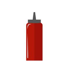 tomato sauce bottle simple flat vector image