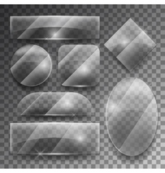 transparent glass plates set vector image