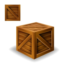 Wood box vector image vector image