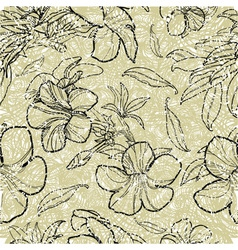 Bell thai flower seamless 2 grunge vector image