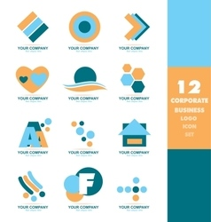 Corporate business logo icon set vector