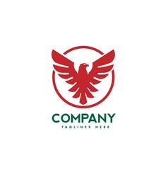 eagle bird with circle logo vector image