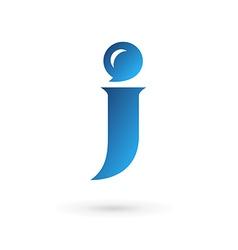 Letter J speech bubble logo icon design template vector image vector image