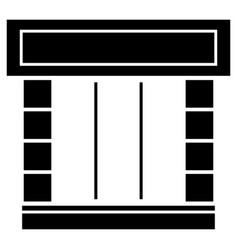 shopfront the black color icon vector image
