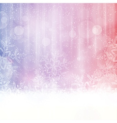 Snowflake background with blurry lights vector image vector image