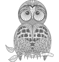Cute owl on tree branch vector image