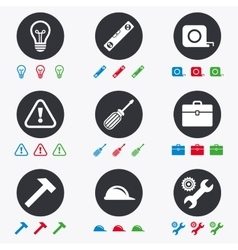 Repair construction icons Engineering signs vector image