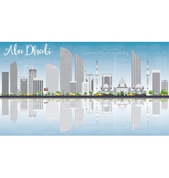 Abu Dhabi City Skyline with Gray Buildings vector