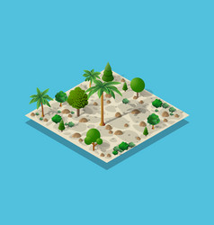 an isometric natural vector image