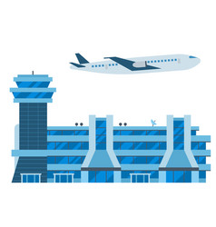 aviation airport airline graphic airplane vector image